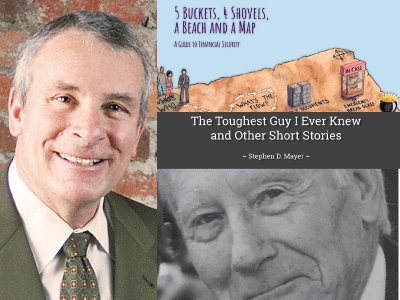 Steve Mayer author photo and cropped cover images