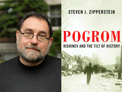 Steven J Zipperstein author photo and Porgom cover image