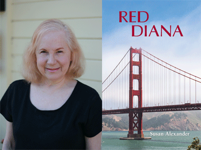 Susan Alexander author photo and Red Diana cover image