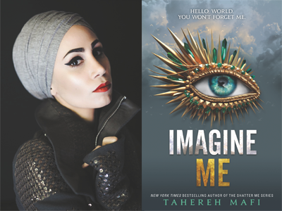 Tahereh Mafi author photo and Imagine Me cover image