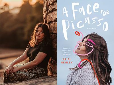 Ariel Henley author photo and A Face for Picasso cover image