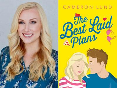Cameron Lund author photo and The Best Laid Plans cover image