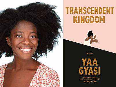 Yaa Gyasi author photo and Transcendent Kingdom coveri mage