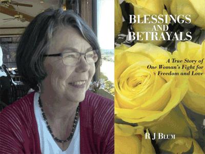 R J Blum author photo and book cover