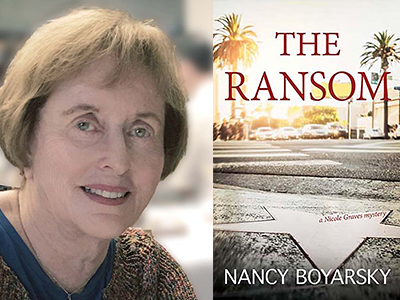 Nancy Boyarsky author photo and The Ransom cover image