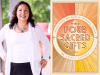 Anita L Sanchez author photo and The Four Sacred Gifts cover image