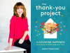 Nancy Davis Kho author photo and the thank you project cover image