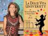 Carla Gambescia author photo and La Dolce Vita University cover image