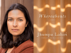 Jhumpa Lahiri author photo and Whereabouts cover image