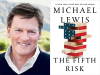 Michael Lewis author photo and The Fifth Risk cover image