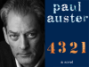 Paul Auster author photo and 4 3 2 1 cover image