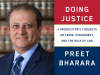Preet Bharara author photo and Doing Justice cover image