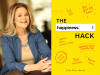 Ellen Petry Leanse author photo and The Happiness Hack cover image