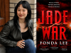 Fonda Lee author photo and Jade War cover image