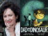 Gennifer Choldenko author photo and Dad and the Dinosaur cover image