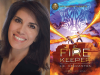 JC Cervantes author photo and Fire Keeper cover image