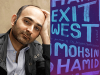 Moshin Hamid author photo and Exit West cover image
