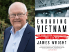James Wright author photo and Enduring Vietnam cover image