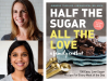 Jennifer Tyler Lee & Anisha Patel author photos and Half the Sugar, All the Love cover image