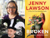 Jenny Lawson and Christopher Moore author photos, Broken cover image