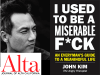 John Kim author photo and I Used to Be a Miserable F*ck cover image