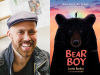 Justin Barker author photo and Bear Boy cover image