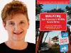 Kristine Poggioli author photo and Walking SF's 49 Mile Scenic Drive cover image