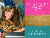 Lora Cheale author photo and Flaunt cover image