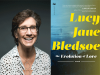 Lucy Jane Bledsoe author photo and The Evolution of Love cover image