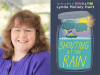 Lynda Mullaly Hunt author photo and Shouting at the Rain cover image