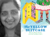 Meera Sriram author photo and The Yellow Suitcase cover image