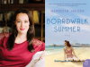 Meredith Jaeger author photo and Boardwalk Summer cover image