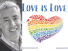 Michael Genhart author photo and Love Is Love cover image