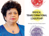 Monica Sharma author photo and Radical Transformation Leadership cover image