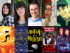 Author and cover images for CB Lee, Tara Sim, Tim Floreen, Gail Carriger, and Jenn Polish