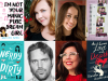 Author photos and cover images for Gretchen McNeil, Jessica Brody, BT Gottfred, and Martha Brockenbrough