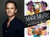 Neil Patrick Harris author photo and The Magic Misfits cover image