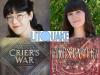Nina Varela and Tara Sim author photos and cropped cover images
