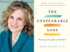 Nisha Zenoff author photo and The Unspeakable Loss cover image