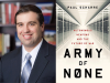 Paul Scharre author photo and Army of None cover image