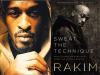 Rakim author photo and Sweat the Technique cover image