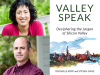 Rochelle Kopp and Steven Ganz author photos, Valley Speak cover image