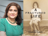 Shabnam Samuel author photo and A Fractured Life cover image