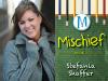 Stefania Shaffer author photo and Mischief cover image