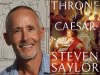 Steven Saylor author photo and The Throne of Caesar cover image