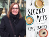 Teri Emory author photo and Second Acts cover image