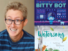 Tim McCanna author photo and cover images for Bitty Bot and Waterson