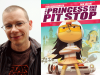Tom Angleberger author photo and The Princess and the Pit Stop cover image