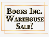 Books Inc. warehouse sale banner