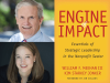 William F. Meehan III author photo and Kim Starkey Jonker author photos and Engine of Impact cover image